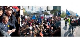 Donald Tusk przyjechał do Warszawy. Na Dworcu Centralnym doszło do starcia jego przeciwników i zwole