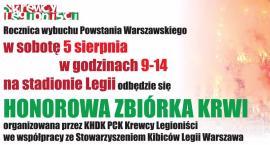 Honorowa zbiórka krwi na stadionie Legii Warszawa