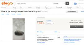 Nowa aukcja na Allegro - możesz kupić ziemię po której chodził Jarosław Kaczyński...