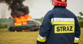 Pożar przy galerii Rembielińska na Targówku