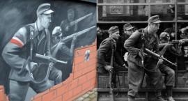 Fatalna wpadka w Łomiankach. Na patriotycznym muralu sceny z Rzezi Woli...