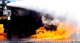Pożar wiaty w Łomiankach