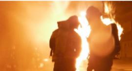 Pożar domku fińskiego na Jazdowie