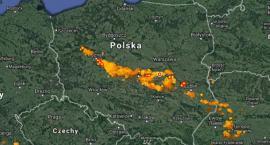 Tak to wygląda obecnie. Burze w nocy dotrą do Warszawy