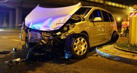 Pasażer taksówki ranny w wypadku [ZDJĘCIA]