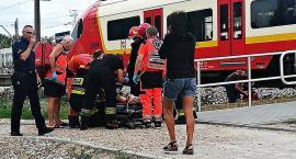 Kobieta potrącona przez pociąg [ZDJĘCIA]