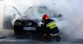 Auto zapaliło się w czasie jazdy [ZDJĘCIA]