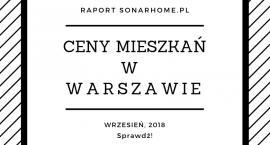 Ceny mieszkań w Warszawie - wrzesień 2018