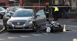 Zderzenie motocykla z samochodem. Motocyklista nie żyje... [ZDJĘCIA]