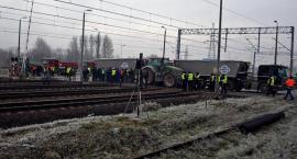 Podwykonawcy Astaldi zablokowali trasę kolejową [ZDJĘCIA]