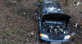 Auto wjechało do rowu. Trzy osoby ranne, w tym dziecko [ZDJĘCIA]
