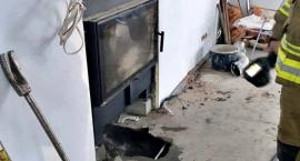 Pożar instalacji przy kominku [ZDJĘCIA]