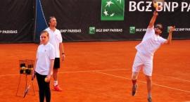 Pokaz Blind Tennis Polska na kortach Legii Warszawa
