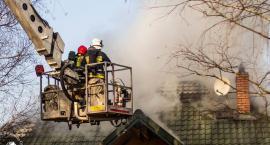Pożar domu jednorodzinnego [ZDJĘCIA]