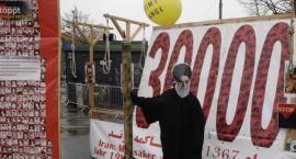 Demonstracja irańskiej opozycji podczas bliskowschodniego szczytu w Warszawie