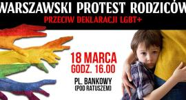 Warszawski Protest Rodziców w poniedziałek przed Urzędem Miasta