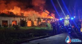 Ogromny pożar w Modlinie. Spłonęła hala hurtowni WKRA