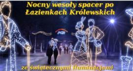 Spacery po Łazienkach Królewskich ze świątecznymi iluminacjami