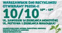 Warszawskie Dni Recyklingu – otwieramy PSZOK-i