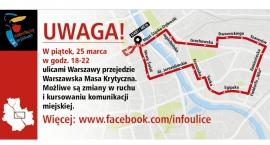 Warszawska Masa Krytyczna i wyjazdy na święta - szykują się utrudnienia na drogach