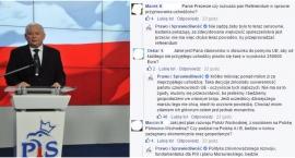 Jarosław Kaczyński rozmawia na Facebooku
