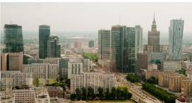 Panorama Warszawy z 41. piętra Warsaw Spire