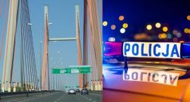 Akcja Policji na Trasie Siekierkowskiej. Wybito szybę i wyciągnięto kierowcę