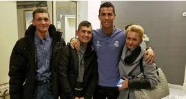 Cristiano Ronaldo spotkał się z pacjentem Kliniki Budzik