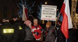 Osiemdziesiąta miesięcznica smoleńska, pierwsza kontrmanifestacja