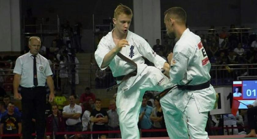 Sporty walki, Łukasz otwocki karateka osiągnięciami - zdjęcie, fotografia