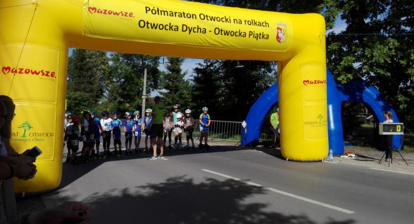 Sport - dyscypliny inne, Półmaraton rolkach biegi Otwocka Dycha Otwocka Piątka - zdjęcie, fotografia