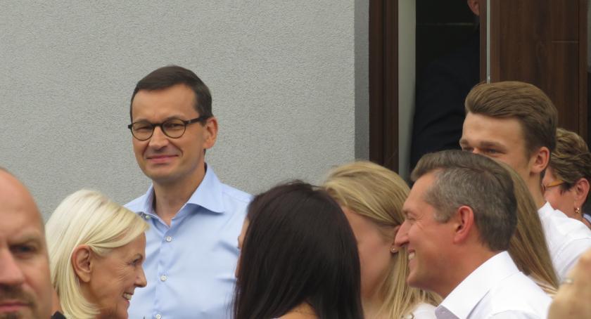 Polityka, Premier Morawiecki Otwocku - zdjęcie, fotografia