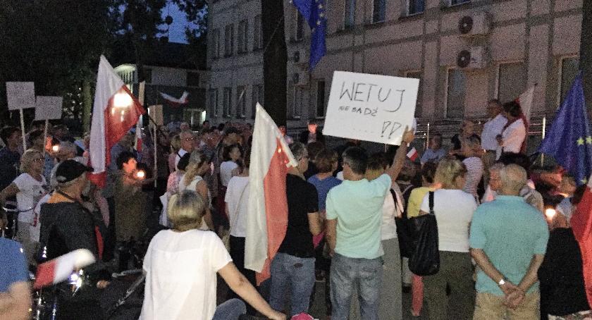 Prawo, Otwocka obywatelska akcja sprawie sądów - zdjęcie, fotografia