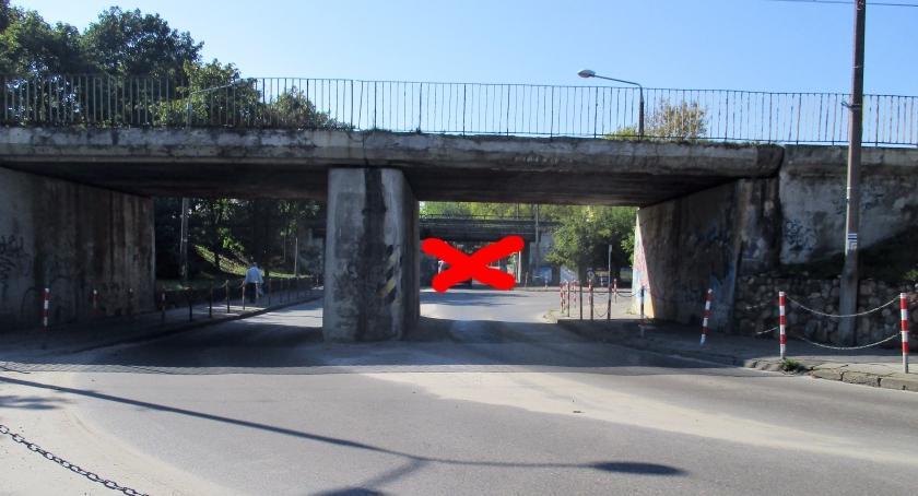 Komunikat, Zamknięty przejazd wiaduktem kolejowym Orlej - zdjęcie, fotografia