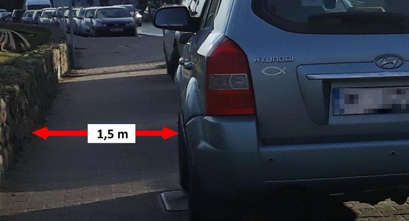 Komunikacja - drogi , Otwocka policja intensyfikuje działania przeciw nieprawidłowemu parkowaniu - zdjęcie, fotografia