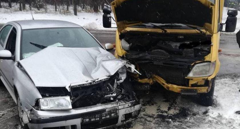 Wypadki drogowe , Sześcioro rannych Mandaty narażanie pieszych - zdjęcie, fotografia