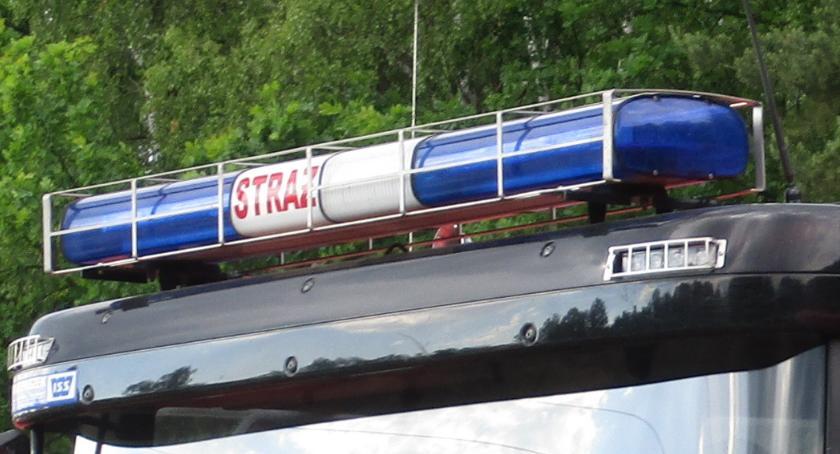 Interwencje Straży Pożarnej , Płonące stacji benzynowej Radwankowie - zdjęcie, fotografia
