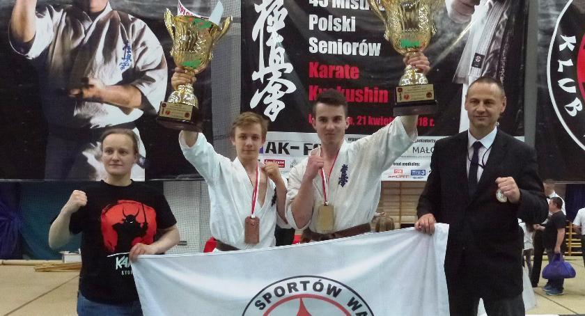 Sporty walki, Debiutant Bushi mistrzem Polski seniorów karate - zdjęcie, fotografia