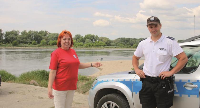 Bezpieczeństwo, Otwocki ostrzega pływać Wiśle - zdjęcie, fotografia