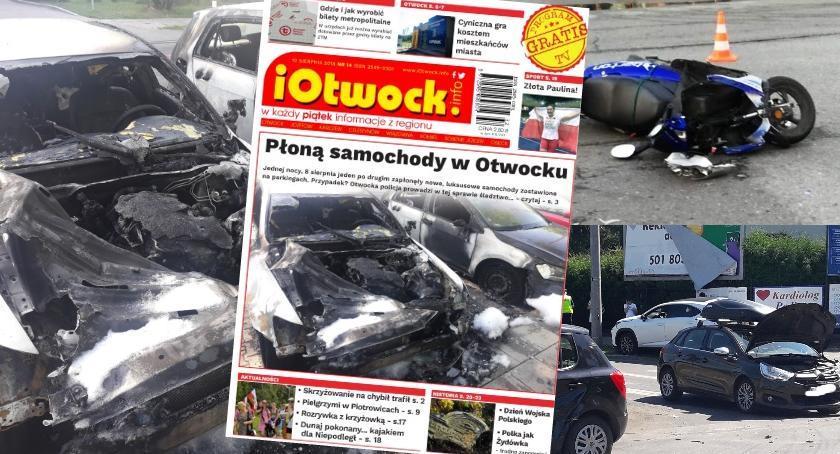 Publikacje, Płoną samochody tygodnik iOtwock info - zdjęcie, fotografia