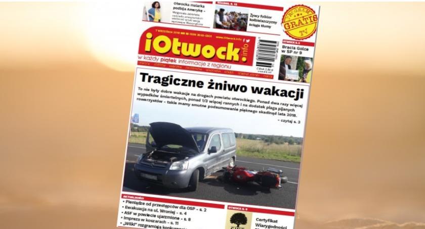 Publikacje, Tragiczne żniwo wakacji czytaj tygodnik iOtwock info - zdjęcie, fotografia