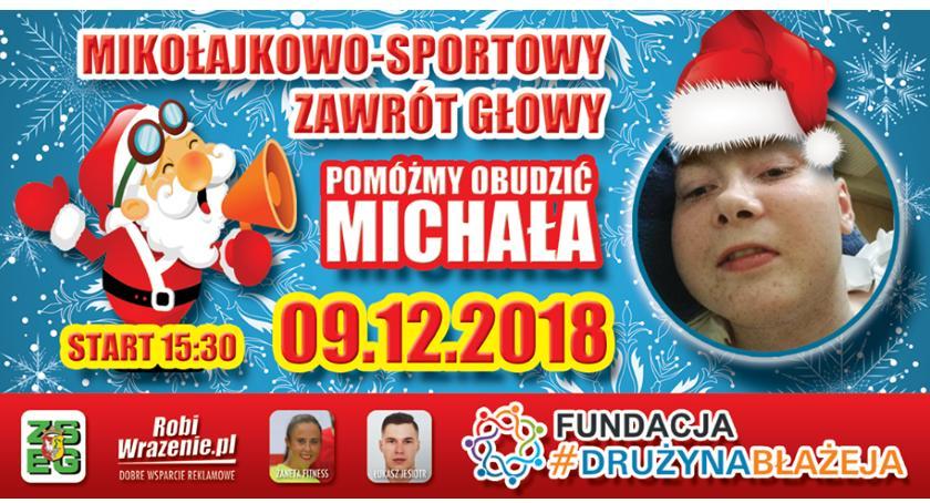 Opieka społeczna, Mikołajkowo sportowy zawrót głowy Michała - zdjęcie, fotografia
