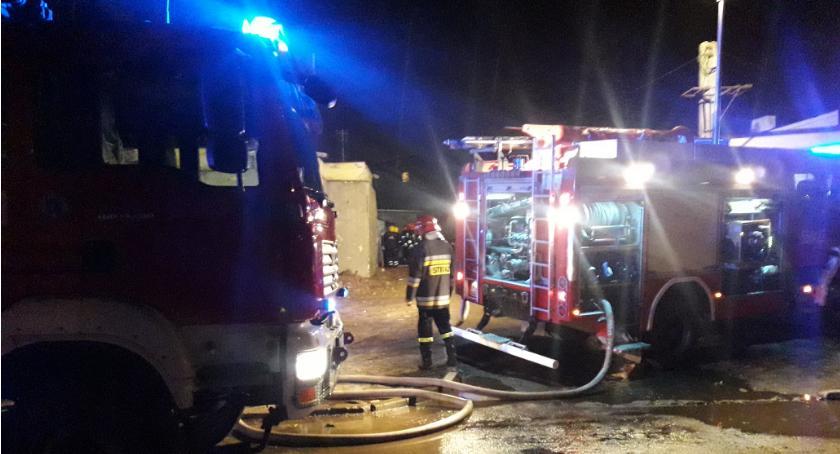 Interwencje Straży Pożarnej , Pożar Jasnej Otwocku - zdjęcie, fotografia