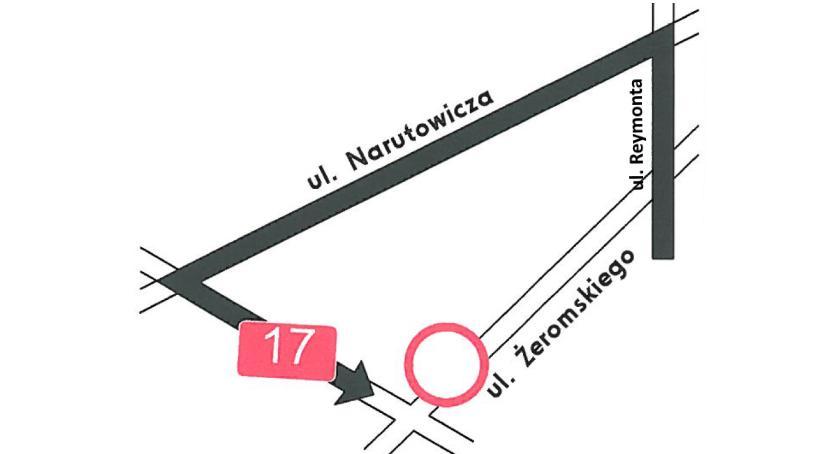 Komunikacja - drogi , Zamknięcie skrzyżowania Żeromskiego Otwocku - zdjęcie, fotografia