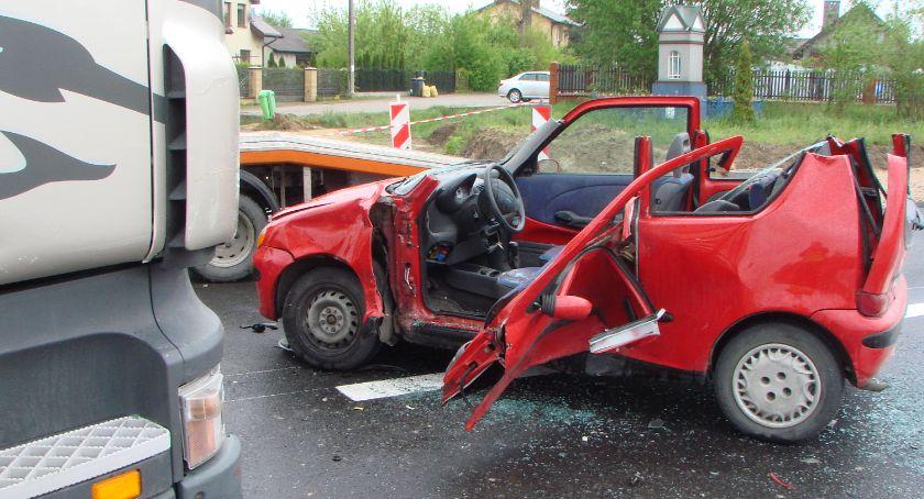 Wypadki drogowe , Wypadek Wólce Mlądzkiej - zdjęcie, fotografia