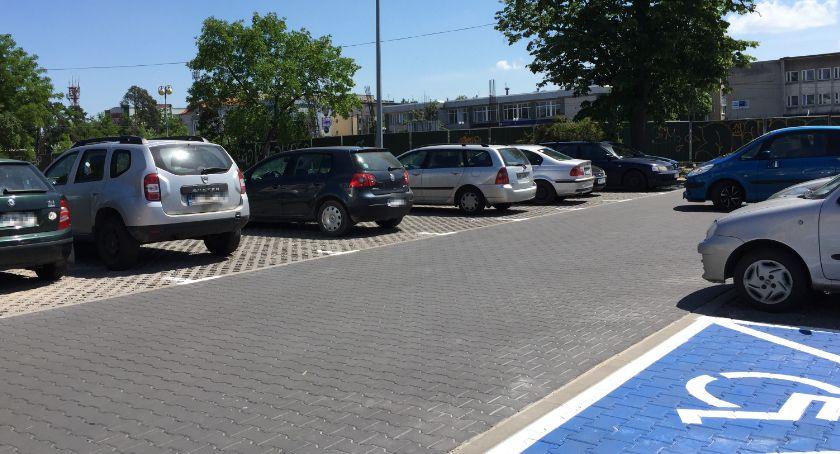 Komunikacja - drogi , Płatne parkingi centrum Otwocka - zdjęcie, fotografia