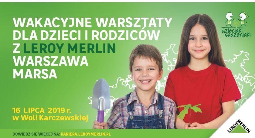 Praca, Wakacyjne warsztaty dzieci rodziców Leroy Merlin Warszawa Marsa - zdjęcie, fotografia