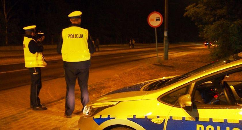 Bezpieczeństwo, Nocne kontrole otwockiej drogówki - zdjęcie, fotografia