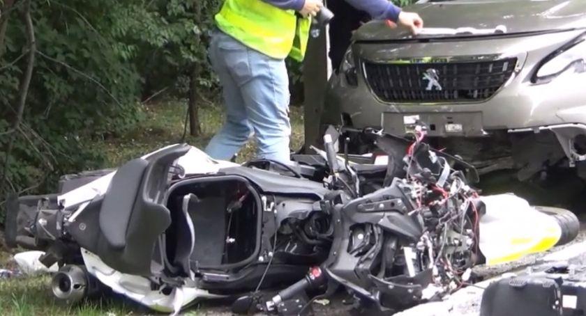 Wypadki drogowe , Śmierć motocyklisty DW721 Józefowie - zdjęcie, fotografia