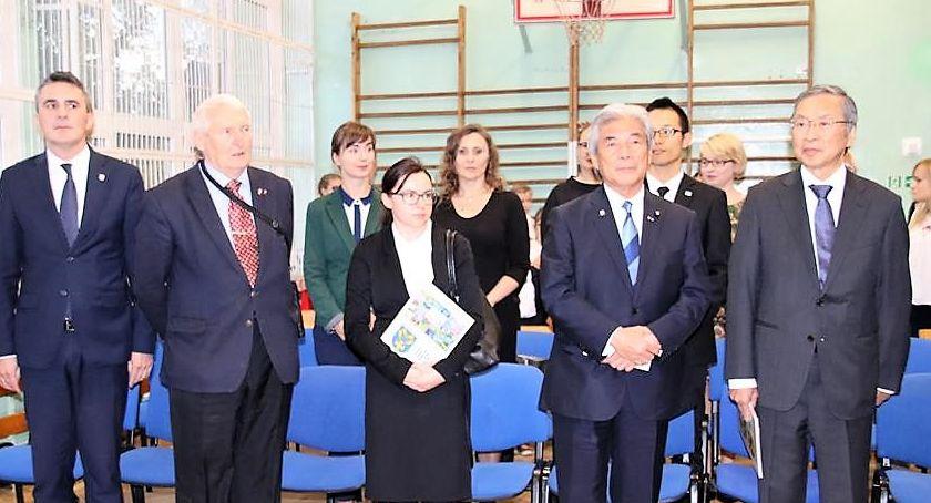 Edukacja - nauka, Japońska wizyta szkole Starej - zdjęcie, fotografia